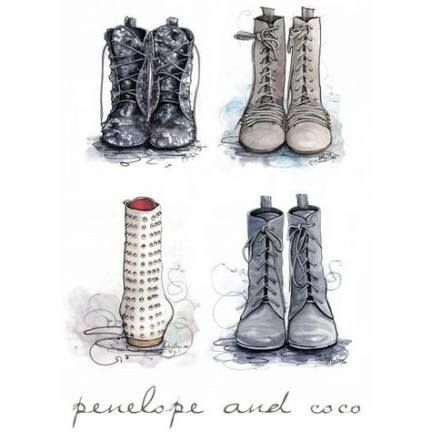 35 Trendy Boots Drawing Reference Combat drawing boots