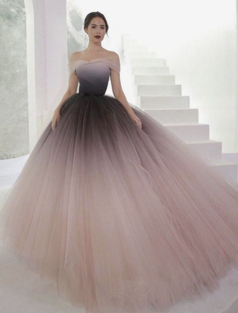 SP1039,Off-the-shoulder Prom Gown,Ombre Ball Gown,Ombre Prom Dresses Cheap Evening Dresses