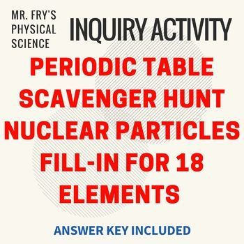 12 best free science teaching materials images on pinterest periodic table nuclear particles fill in worksheet scavenger hunt have your students explore 18 elements nuclei by filling in the missing information urtaz Images