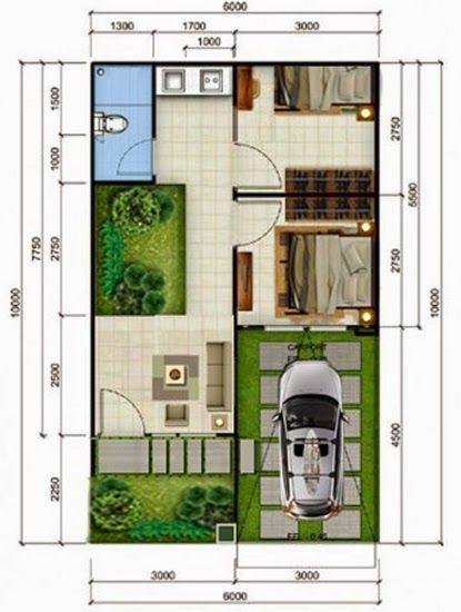 Rumah Minimalis Type 36 Denah Rumah Rumah Minimalis Rumah
