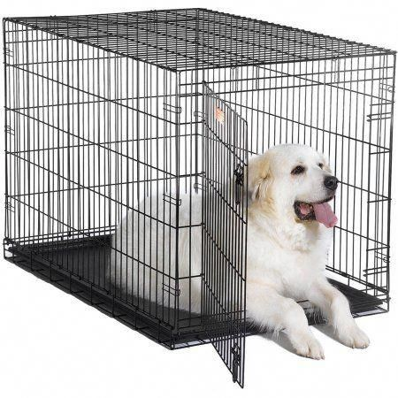 Midwest Single Door Icrate Metal Dog Crate 48 Walmart Com In 2020 Wire Dog Crates Large Dog Crate Xxl Dog Crate