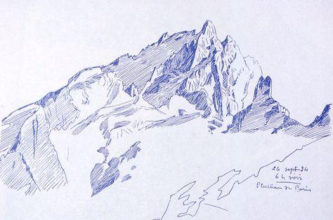 La Meije Et Moi Acte I La Montagne C Est Pointu Dessin