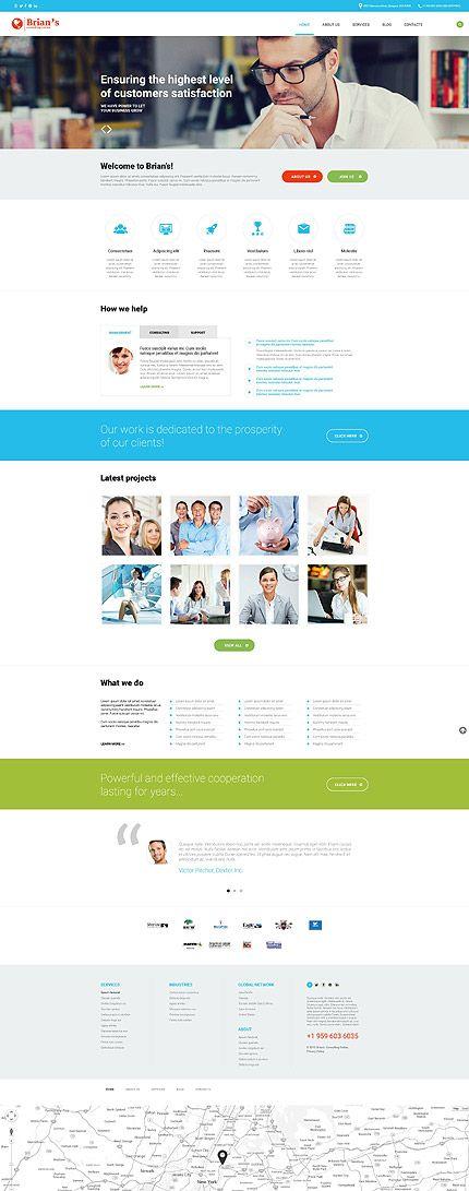 Business #Most Popular #WordPress \/ Template #54575 Caffè - professional business profile template