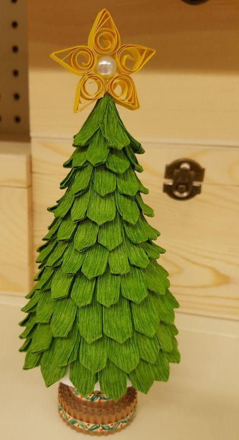 Alberi Di Natale Di Carta.Albero Di Natale Fatto Con Un Cono Di Polistirolo