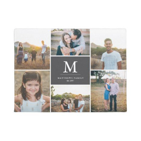 Custom 6 Photo Collage Doormat Zazzle Com Photo Collage Framed Photo Collage Personalized Door Mats