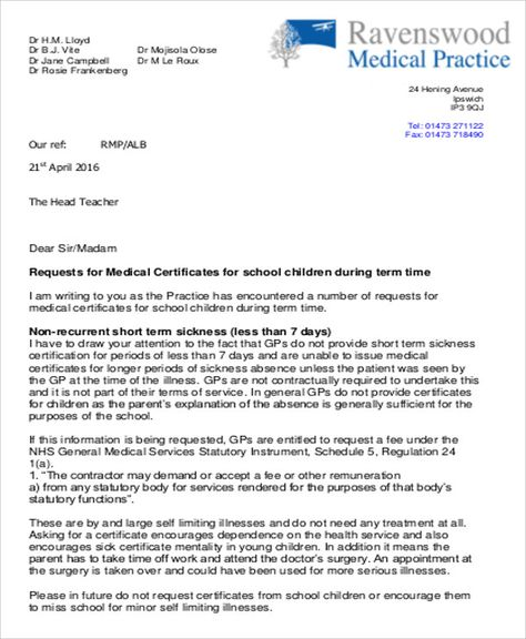 Medical Certificate Letter For School Connecticut Legal Services