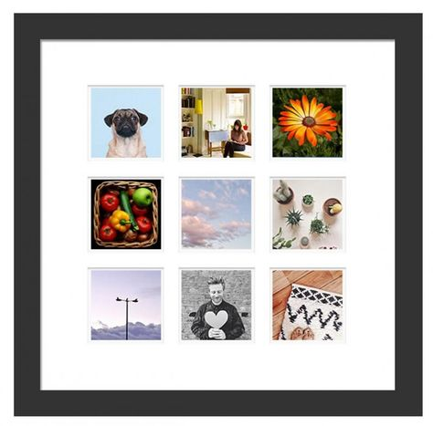 Instagram wall art using interchangeable photo magnets. Very cool new service.