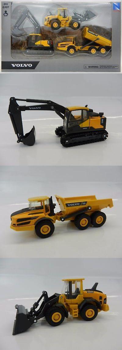 3pc Set 1 64 Volvo Model Ec140 Excavator A25g Dump Truck L60h Wheel Loader Volvo Models Volvo Dump Truck