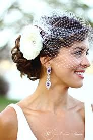 Wedding Hair With Birdcage Veil