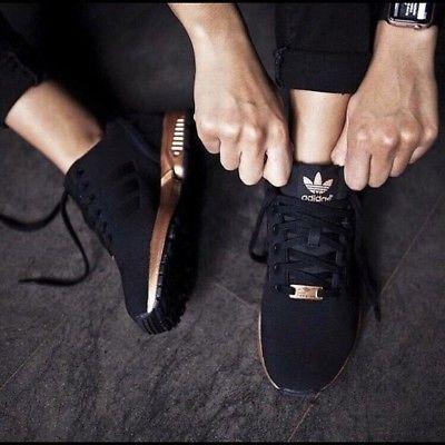 adidas zx flux femmes noir et rose gold
