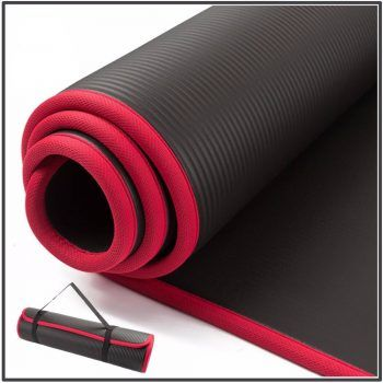 Gethealthyshop Thick Yoga Mat With Locked Edge Yoga Accessories Material Nbr Thickness 10 Mm 0 4 In Thick Yoga Mats Workout Pad Extra Thick Yoga Mat