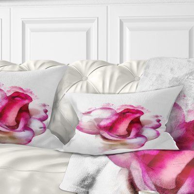 Rose Drawing Floral Throw Pillows Pillows Living Room Decor Traditional