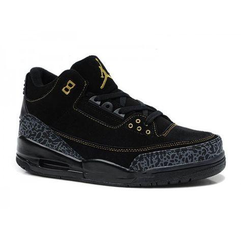 quality design bc9a0 55472 Air Jordan 3 Retro - Basket Jordan Anti-Fourrure Chaussures Pas Cher Pour  Homme Toute Noir Magasin De Chaussure Pas Cher