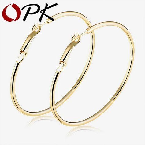 Round Big Large Hoop Huggie Loop Earrings for Women  TDUK