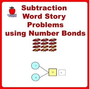 Subtraction Story Word Problems Using Number Bonds Grade K