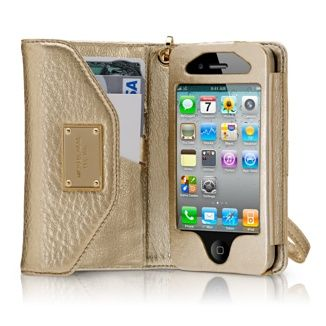cc7c145941df Michael Kors Gold Leather Wristlet Wallet for iPhone 3 and 4 - - Need thhe  perfect gift for the fashionista in your life that already has it all