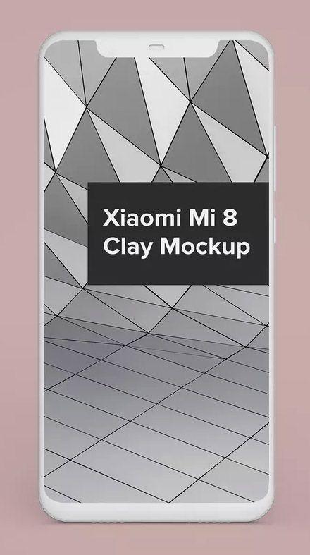 Xiaomi Mi 8 Clay Android Phone Mockup | Mock-Ups | Phone