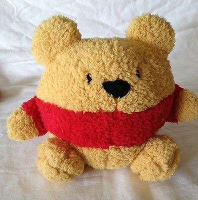Disney Parks Authentic Round Plush Winnie the Pooh Chamois Soft Toy