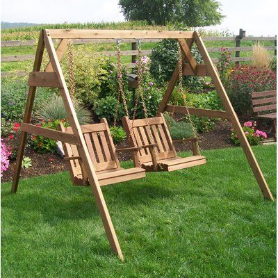 Alcott Hill League A Frame Porch Swing Stand Size 5 Finish