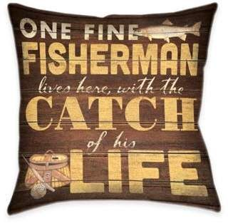 Laural Home Fine Fisherman Reversible Throw Pillow Ad Throw