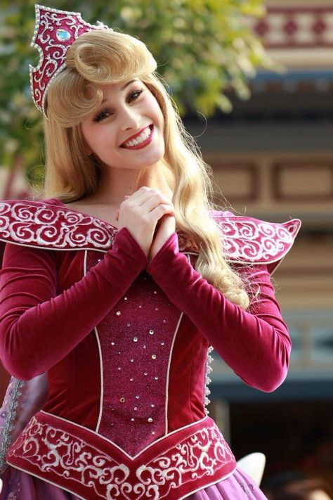 Princess Aurora in her Christmas outfit