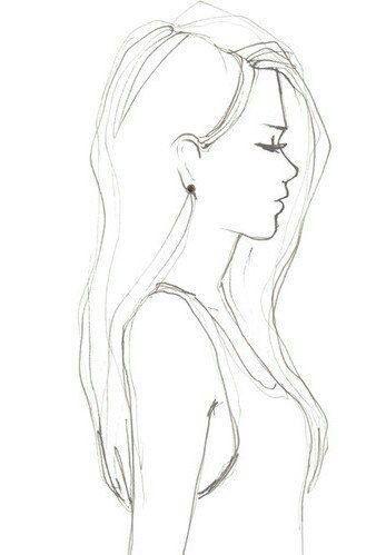 Resultado De Imagen Para Mujer De Lado Dibujo Dibujos Dibujos A