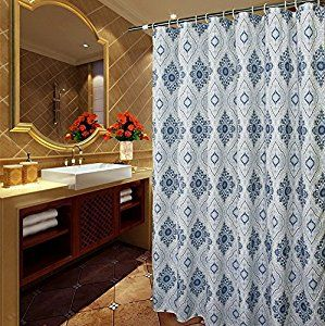 Amazon Com Shower Curtain Extra Long 72 X 96 Inches Welwo X Long