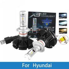 Led Car Headlight Bulb H4 H7 H3 H1 9005 9007 12v Auto Lamp For Hyundai Creta Ix35 Tucson Solaris Santa Car Headlight Bulbs Led Headlights Cars Headlight Bulbs