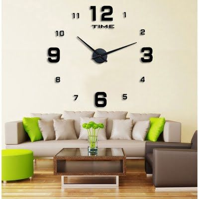 Diy Jam Dinding Untuk Memperindah Ruangan Wall Clocks Living Room Living Room Decor Living Room Diy