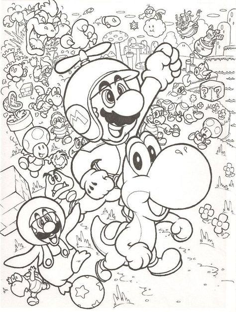 Kleurplaten Mario Bowser.Leuke Kleurplaat Met Mario Kleurplaten Disney Kleurplaten