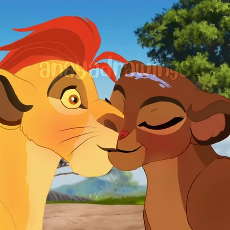 Kiss from Kion and Rani - The Lion Guard
