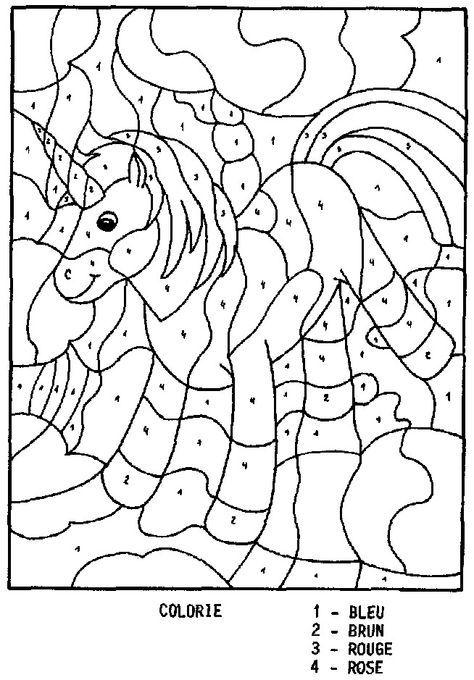 Coloriage Magique Licorne Ce1.Epingle Sur Razvivayushie Igry