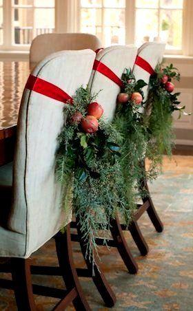Christmas Chair Decorating Ideas Southern Christmas Christmas