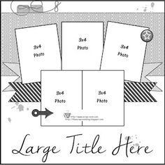 Monthly Scrapbooking Layout Kit Club at The ScrapRoom - rap-You can find Scrapbook sketches and more on our website.Monthly Scrapbooking Layout Kit Club at The. Scrapbook Printables, Scrapbook Titles, 12x12 Scrapbook, Scrapbook Templates, Scrapbook Journal, Scrapbook Designs, Disney Scrapbook, Travel Scrapbook, Baby Scrapbook Layouts