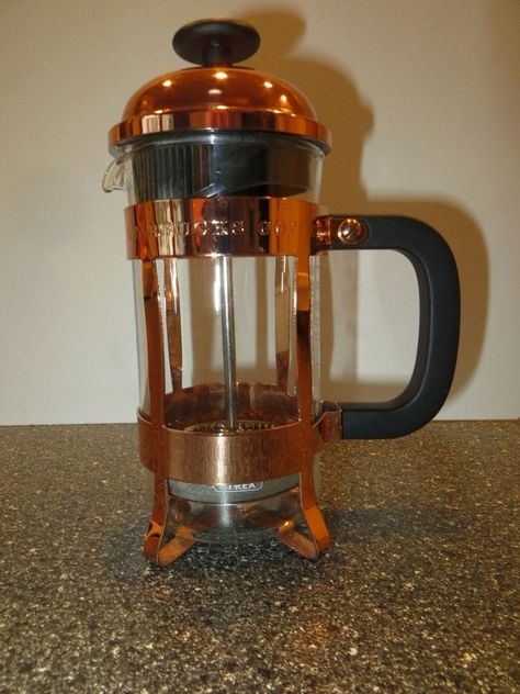 Starbucks Anniversary 3 Cup Pyrex Glass Insert Copper Frame 12 Oz Coffee Press Coffee Press Pyrex Glass Coffee
