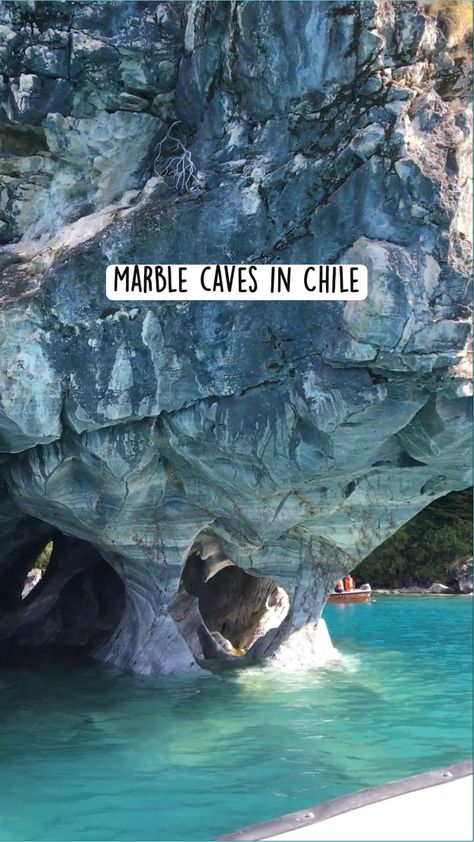 Marble Caves In Patagonia, Chile