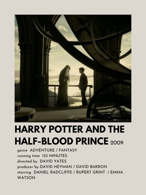 Poster de Harry Potter And The Half-Blood Prince