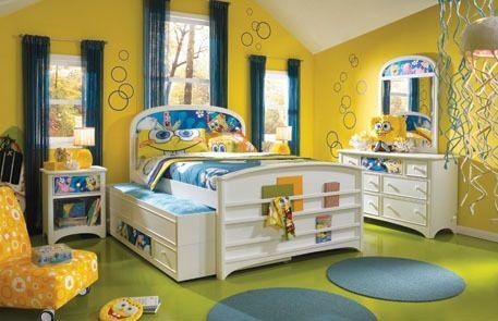 Image Of Yellow Spongebob Bedroom Decoration Ideas Picture 12