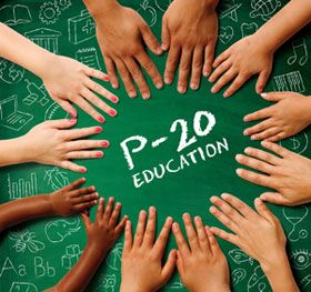 The goal of P-20 is to help create a more seamless and integrated education experience for all students through the educational pipeline