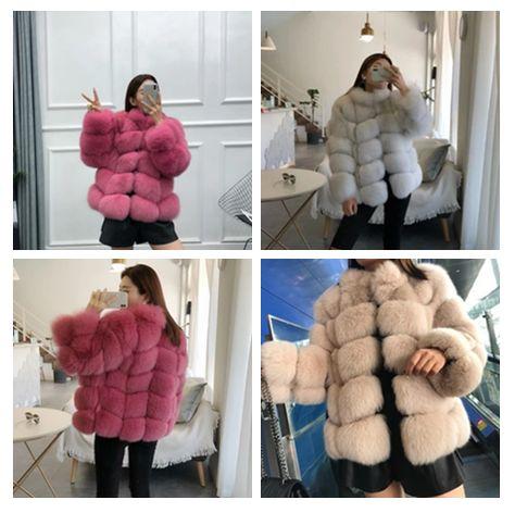 4 Colors Faux Fur Ladies Coats