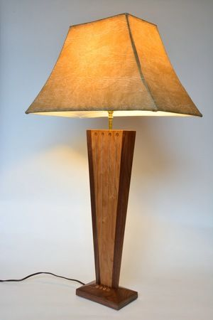 Balance table lamp side view style game balance table lamp by robby cuthbert pinterest cuthbert wood glass and woods