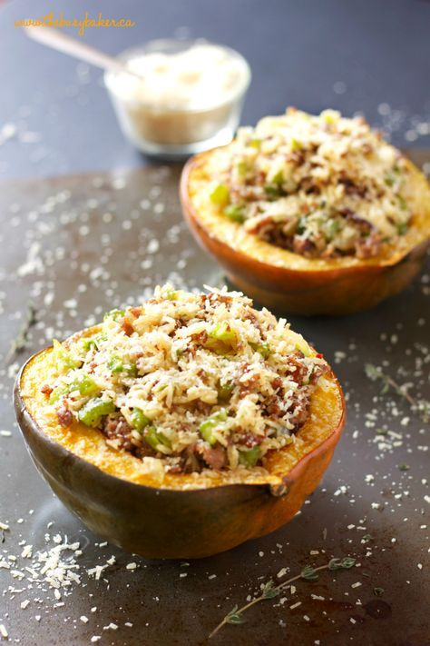 Italian Sausage And Brown Rice Stuffed Acorn Squash Recipe