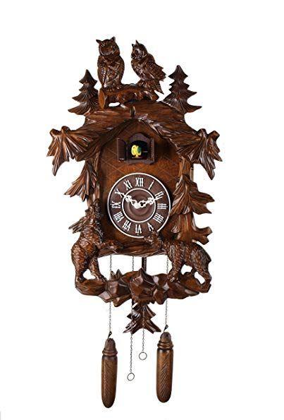14 Inch Classic Owl And Bear Three Dimensional Shape Cuckoo Clock Quartz Timepieces C00204 Review Cuckoo Clock Clock Three Dimensional Shapes