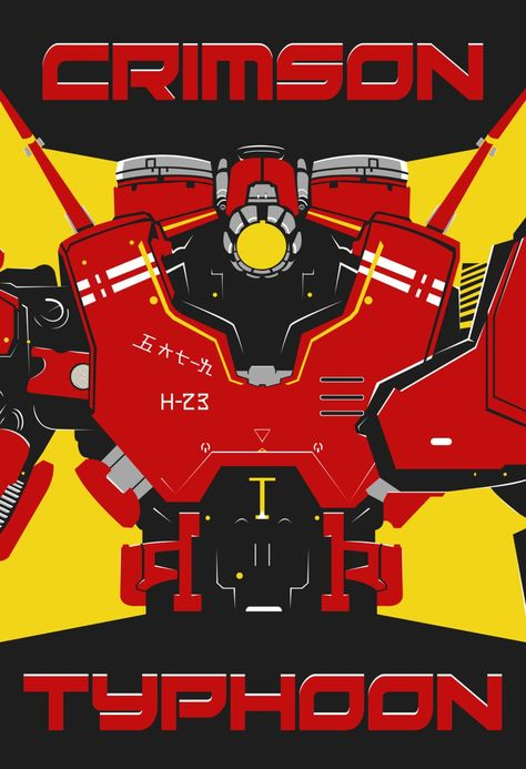 Pacific Rim - Crimson Typhoon Poster - Jaeger