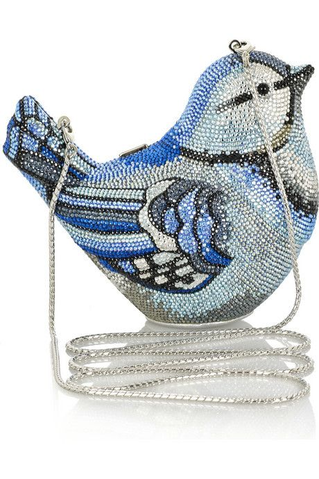 Gorgeous - and completely adorable - Judith Leiber bluebird crystal covered handbag.
