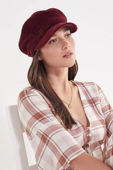 59a621171e3 Urban Outfitters Chenille Baker Boy Hat  womensfashioncasual ...