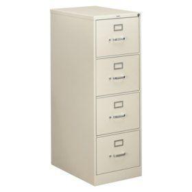 Hon 26 310 Series 4 Drawer Legal File Cabinet Light Gray Filing Cabinet Drawers Hanging Rail 4 drawer legal size file cabinet