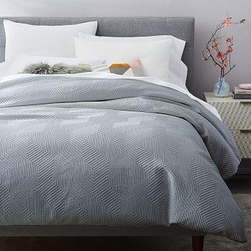 Organic Modern Geo Duvet Cover King Cal King Stone Gray Textured Duvet Cover Modern Duvet Covers Duvet Covers