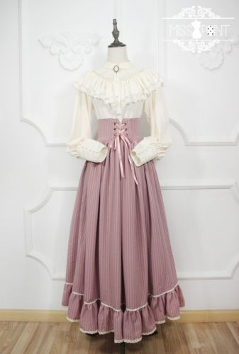 Alpine maiden*Vintage Gothic High Waist Lolita Skirt For Autumn