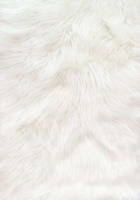 Solid White Shaggy Long Pile Faux Fur Fabric By The Yard 60